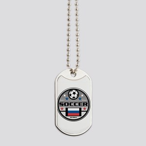 Live Love Soccer Russia Dog Tags