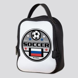 Live Love Soccer Russia Neoprene Lunch Bag