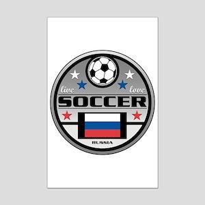 Live Love Soccer Russia Mini Poster Print
