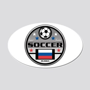 Live Love Soccer Russia 20x12 Oval Wall Decal