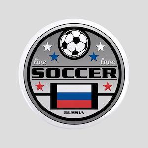 """Live Love Soccer Russia 3.5"""" Button"""