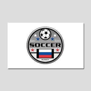 Live Love Soccer Russia Car Magnet 20 x 12