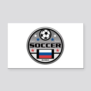 Live Love Soccer Russia Rectangle Car Magnet
