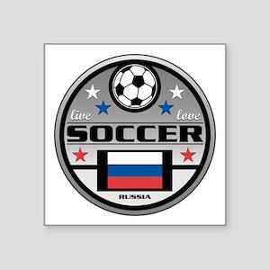 """Live Love Soccer Russia Square Sticker 3"""" x 3"""""""