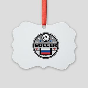 Live Love Soccer Russia Picture Ornament