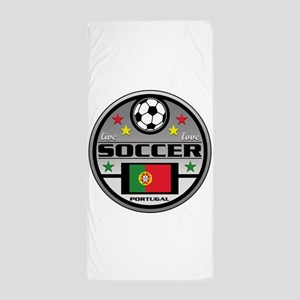 Live Love Soccer Portugal Beach Towel