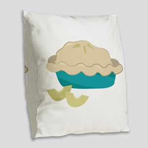 Apple Pie Burlap Throw Pillow