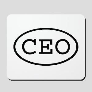 CEO Oval Mousepad