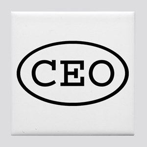 CEO Oval Tile Coaster