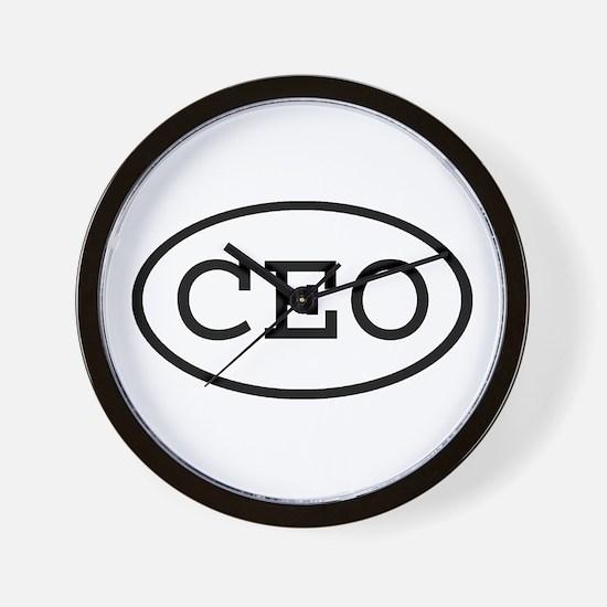 CEO Oval Wall Clock