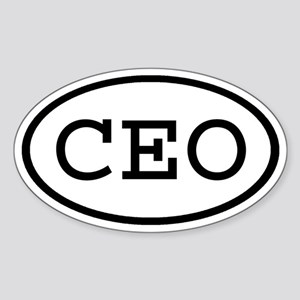 CEO Oval Oval Sticker