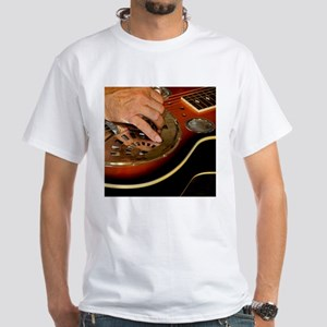 Steel Guitar White T-Shirt