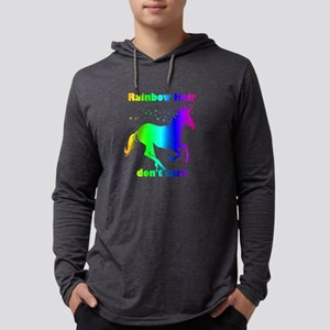 Rainbow Hair Don't Care Fun Unicorn Quote Long Sle