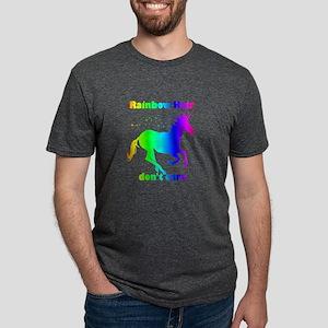 Rainbow Hair Don't Care Fun Unicorn Quote T-Shirt