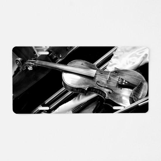 Backstage Violin Aluminum License Plate