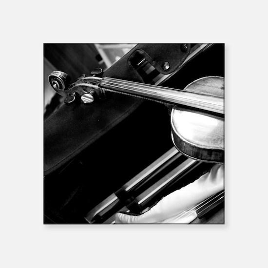 """Backstage Violin Square Sticker 3"""" x 3"""""""