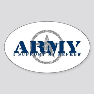 Army - I Support My Nephew Oval Sticker