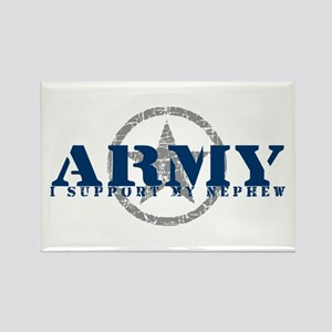 Army - I Support My Nephew Rectangle Magnet