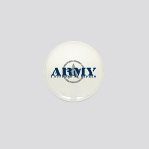 Army - I Support My Nephew Mini Button