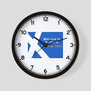Welcome to Scotland, UK Wall Clock