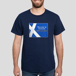 Welcome to Scotland, UK Dark T-Shirt
