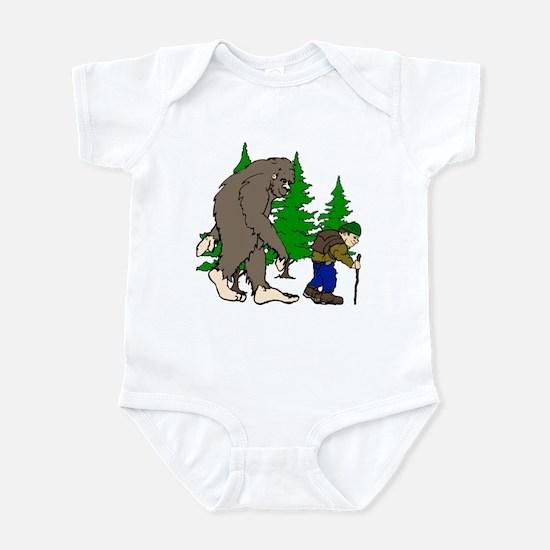 Sasquatch and hiker Infant Bodysuit