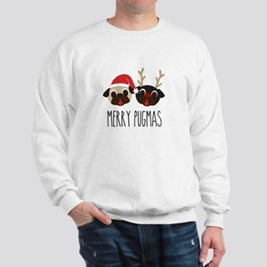 Merry Pugmas Christmas Pug Santa & Reindeer Sweats
