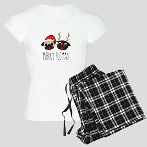 Merry Pugmas Christmas Pug Santa & Reindeer Pajama