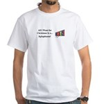 Christmas Xylophone White T-Shirt