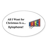 Christmas Xylophone Sticker (Oval 10 pk)