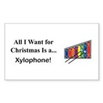 Christmas Xylophone Sticker (Rectangle 10 pk)