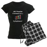 Christmas Xylophone Women's Dark Pajamas