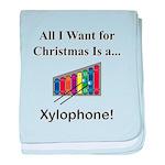 Christmas Xylophone baby blanket
