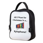 Christmas Xylophone Neoprene Lunch Bag
