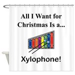 Christmas Xylophone Shower Curtain