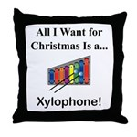 Christmas Xylophone Throw Pillow