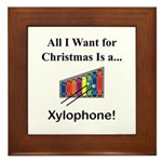 Christmas Xylophone Framed Tile