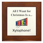 Christmas Xylophone Framed Tile