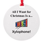 Christmas Xylophone Round Ornament