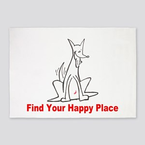 Find Your Happy Place 5'x7'Area Rug