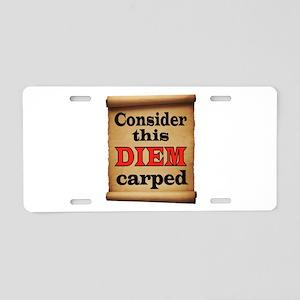 CARPE DIEM Aluminum License Plate