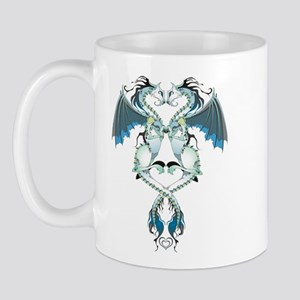 Azure Love Dragons Mug Mugs