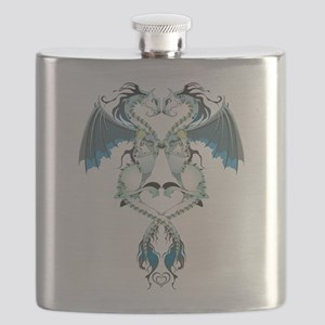 Azure Love Dragons Flask