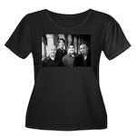 RENDITION Women's Plus Size Scoop Neck Dark T-Shir