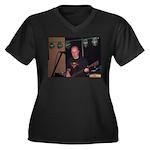 RENDITION Women's Plus Size V-Neck Dark T-Shirt