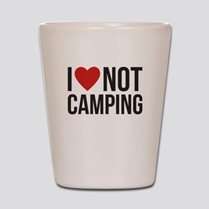 I love not camping Shot Glass