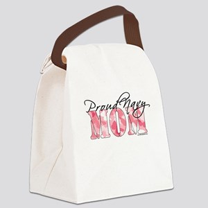 Proud Navy Mom (Pink Butterfly Ca Canvas Lunch Bag