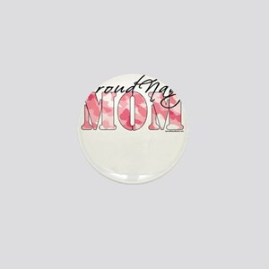 Proud Navy Mom (Pink Butterfly Camo) Mini Button