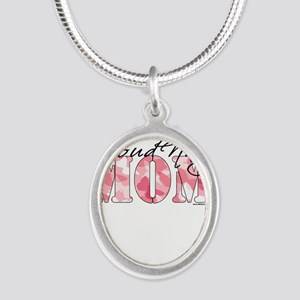 Proud Navy Mom (Pink Butterfly Camo) Necklaces