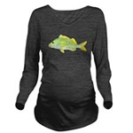French Grunt Long Sleeve Maternity T-Shirt